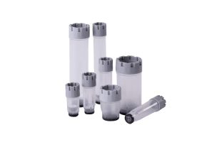 The complete range of Micronic's externally threaded tubes precapped with grey screw caps