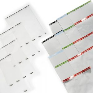 Several sheets of 75um heat sealing film.